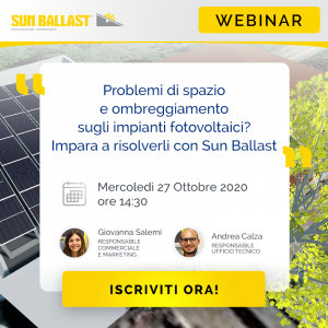 Problems with space and shading on photovoltaic systems? Learn to solve them with Sun Ballast