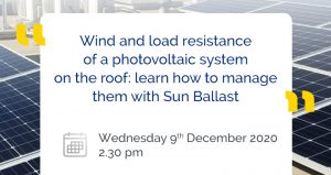 Wind resistance and load of a photovoltaic system on the roof: learn how to manage them with Sun Ballast