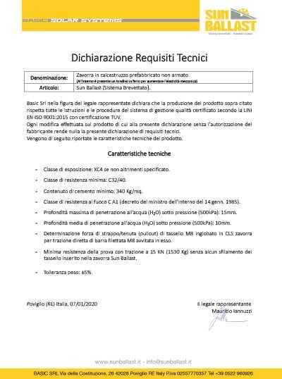 Dichiarazione Requisiti Tecnici