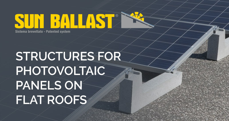 Did you know that there is an innovative structure for photovoltaique on flat roofs?