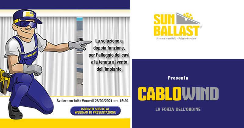 Sun Ballast presenta CABLOWIND: la soluzione a doppia funzione per l'alloggio dei cavi e la tenuta al vento dell'impianto