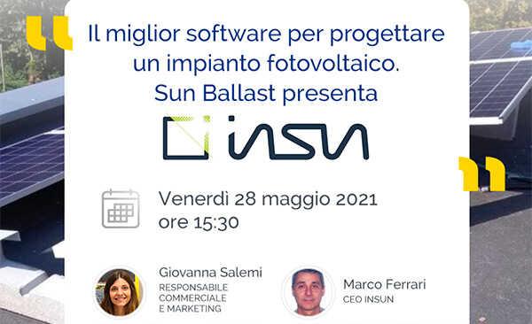 Il miglior software per progettare un impianto fotovoltaico. Sun Ballast presenta InSun