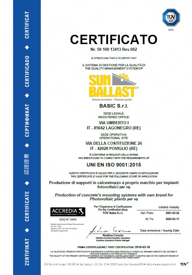 ISO Certificación 9001: 2015